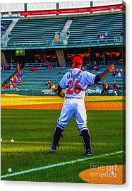 Indianapolis Indians Catcher Acrylic Print