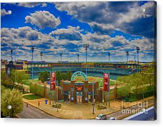 Indianapolis Indians Victory Field Acrylic Print by David Haskett