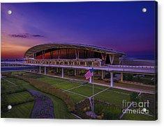 Indianapolis International Airport Sunset Alpha Acrylic Print by David Haskett