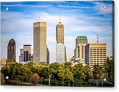 Indianapolis Skyline Picture Acrylic Print by Paul Velgos