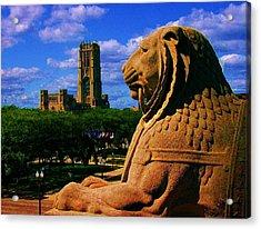 Indianapolis War Memorial Lion Acrylic Print