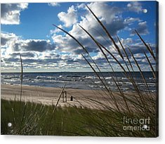 Indiana Dunes' Lake Michigan Acrylic Print by Pamela Clements