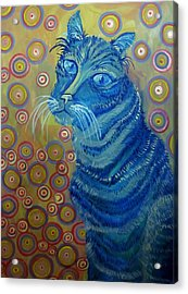 Indigo Cat Acrylic Print
