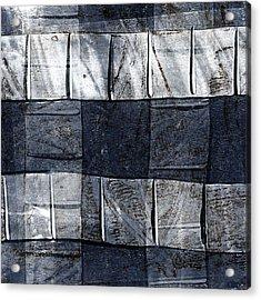 Indigo Squares 1 Of 5 Acrylic Print by Carol Leigh