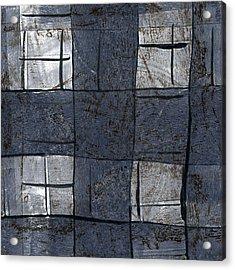 Indigo Squares 5 Of 5 Acrylic Print by Carol Leigh