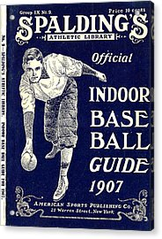 Indoor Base Ball Guide 1907 Acrylic Print by American Sports Publishing