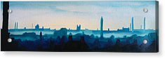 Industrial City Skyline 3 Acrylic Print by Paul Mitchell