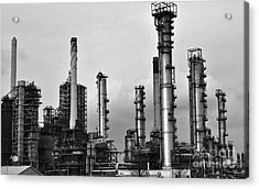 Acrylic Print featuring the photograph Industrial Forest Rotterdam by Maja Sokolowska