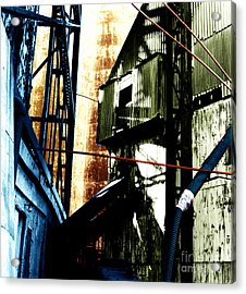 Industrial Landscape Acrylic Print by Sandy MacNeil