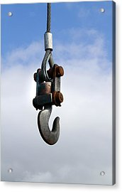 Industrial Lifting Hook Acrylic Print by Science Photo Library
