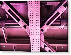 Industrial Metal Purple Acrylic Print by Alexander Senin