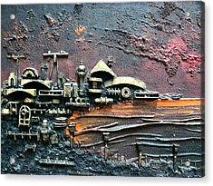 Industrial Port-part 1 By Rafi Talby Acrylic Print by Rafi Talby