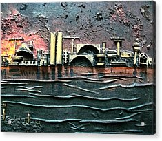Industrial Port-part 2 By Rafi Talby Acrylic Print by Rafi Talby