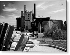 Industrial Power Plant Landscape Smokestacks Acrylic Print