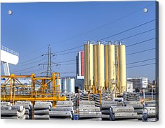 Industrial Scene With Concrete Acrylic Print by Fizzy Image