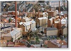 Industrial Town Miniature Model Acrylic Print