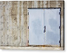 Industrial Unit Double Doors Acrylic Print by Nathan Griffith