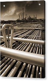 Industry Oil Gas And Fuel Acrylic Print