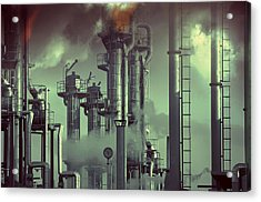 Industry Oil Refinery Concept Acrylic Print