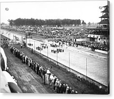 Indy 500 Auto Race Acrylic Print by Underwood Archives