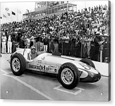 Indy 500 Race Car Acrylic Print by Underwood Archives