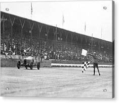 Indy 500 Victory Acrylic Print by Underwood Archives