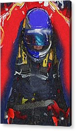 Indy Car Pilot Acrylic Print
