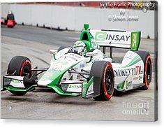 Indy Car  Acrylic Print by Simon Jones