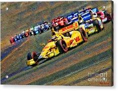 Indy Car's Ryan Hunter-reay Acrylic Print by Blake Richards