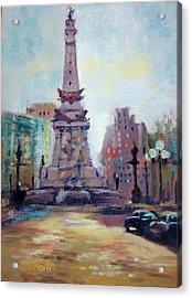 Indy Circle Back-lit Acrylic Print by Donna Shortt