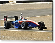 Indy Red White And Blue Acrylic Print by Dave Koontz