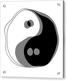 Inebriated Yin Yang Acrylic Print by Daniel Hagerman