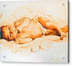 Infant Awake Acrylic Print