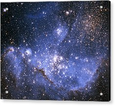 Infant Stars In The Small Magellanic Cloud Acrylic Print by Nasa