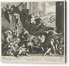 Infanticide In Bethlehem, Aegidius Sadeler Acrylic Print