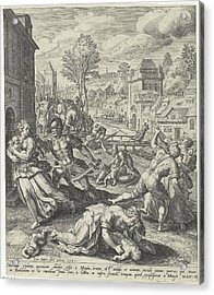 Infanticide In Bethlehem, Johann Sadeler Acrylic Print