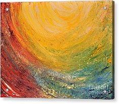 Acrylic Print featuring the painting Infinity by Teresa Wegrzyn