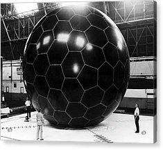 Inflatable Satellite Acrylic Print