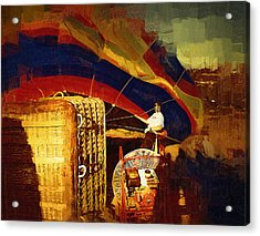 Acrylic Print featuring the digital art Inflating by Kirt Tisdale