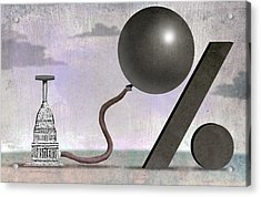 Inflation Acrylic Print by Steve Dininno