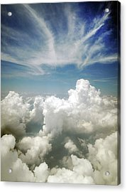 Inflight Sky Shot Of The Cotton-like Acrylic Print by Melindachan