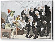 Influenza Epidemic, Satirical Artwork Acrylic Print