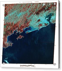 Infrared Satellite Image Of Rio De Janeiro Acrylic Print by Mda Information Systems/science Photo Library