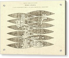 Ingolstadt Map Gores Acrylic Print by Library Of Congress, Geography And Map Division