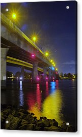Ingraham Street Bridge At Night Acrylic Print