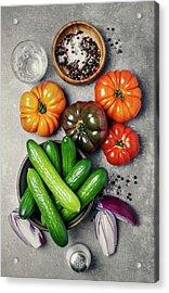 Ingredients Acrylic Print by Claudia Totir
