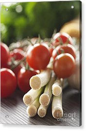 Ingredients For Tomato Sauce Acrylic Print by Mythja  Photography