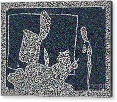 Ink Blot 2 Acrylic Print by Helen Babis