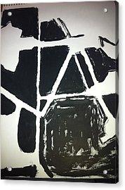 Ink Drawing Acrylic Print by Khoa Luu