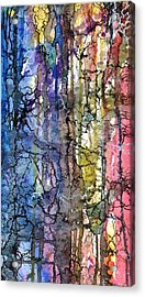 Acrylic Print featuring the painting Ink Lines by Rebecca Davis